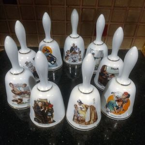 Vintage Norman Rockwell Porcelain Bell Collection